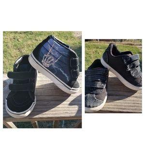 Toddler Boy Vans Velcro Sneakers Rock N Roll 5